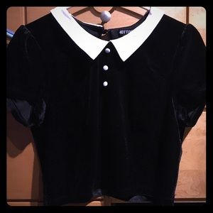 Hot Topic Tops - Wednesday Addams crop top